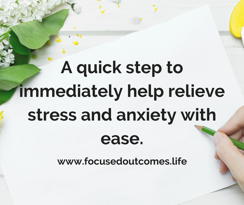 relieve stress and anxiety